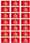 Middlesex Flag Stickers - 21 per sheet